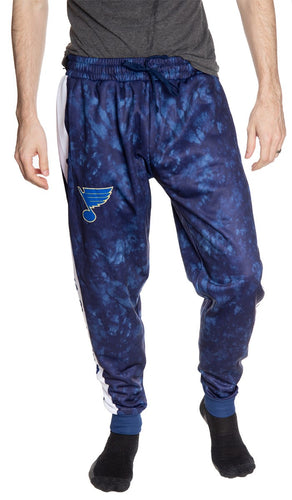 St. Louis Blues Tie Dye Jogger Pants for Men Front View.