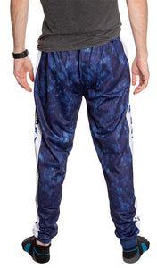 Tampa Bay Lightning Tie Dye Jogger Pants for Men Back View.