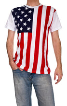 Load image into Gallery viewer, Mens USA Flag T-Shirt