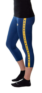 NHL Women's Athletic Capri Workout Leggings- Nashville Predators Side Logo