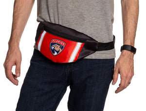 NHL Unisex Adjustable Fanny Pack- Florida Panthers Waist Bag
