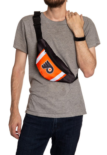 NHL Unisex Adjustable Fanny Pack- Philadelphia Flyers Crossbody