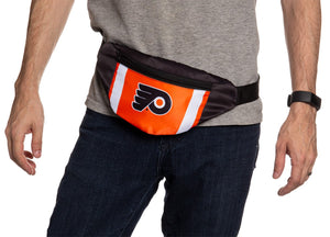 NHL Unisex Adjustable Fanny Pack- Philadelphia Flyers Waist Bag