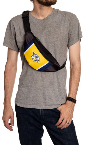 NHL Unisex Adjustable Fanny Pack- Nashville Predators Crossbody