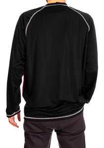 NHL Mens Long Sleeve Rashguard with Wicking Technology- Colorado Avalanche Back