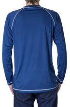 Load image into Gallery viewer, NHL Mens Long Sleeve Rashguard with Wicking Technology- Buffalo Sabres Back