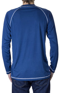 NHL Mens Long Sleeve Rashguard with Wicking Technology- Buffalo Sabres Back