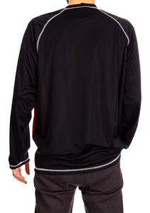 NHL Mens Long Sleeve Rashguard with Wicking Technology- Philadelphia Flyers Back