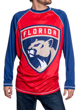 Load image into Gallery viewer, NHL Mens Long Sleeve Rashguard with Wicking Technology- Florida Panthers Front