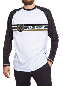 Mens Officially Licensed NHL Striped Long Sleeve Rashguard - Vegas Golden Knights