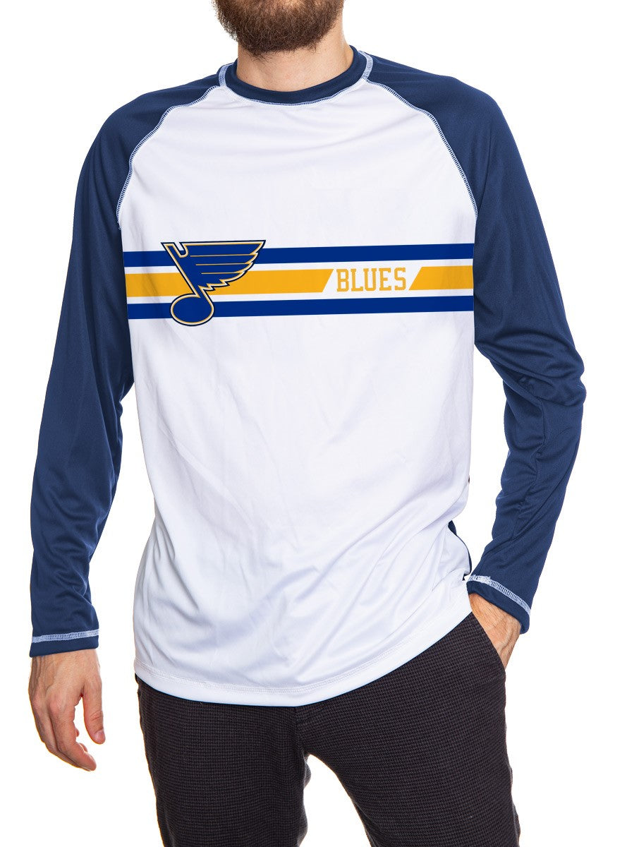 St. Louis Blues Striped Long Sleeve Rashguard for Men
