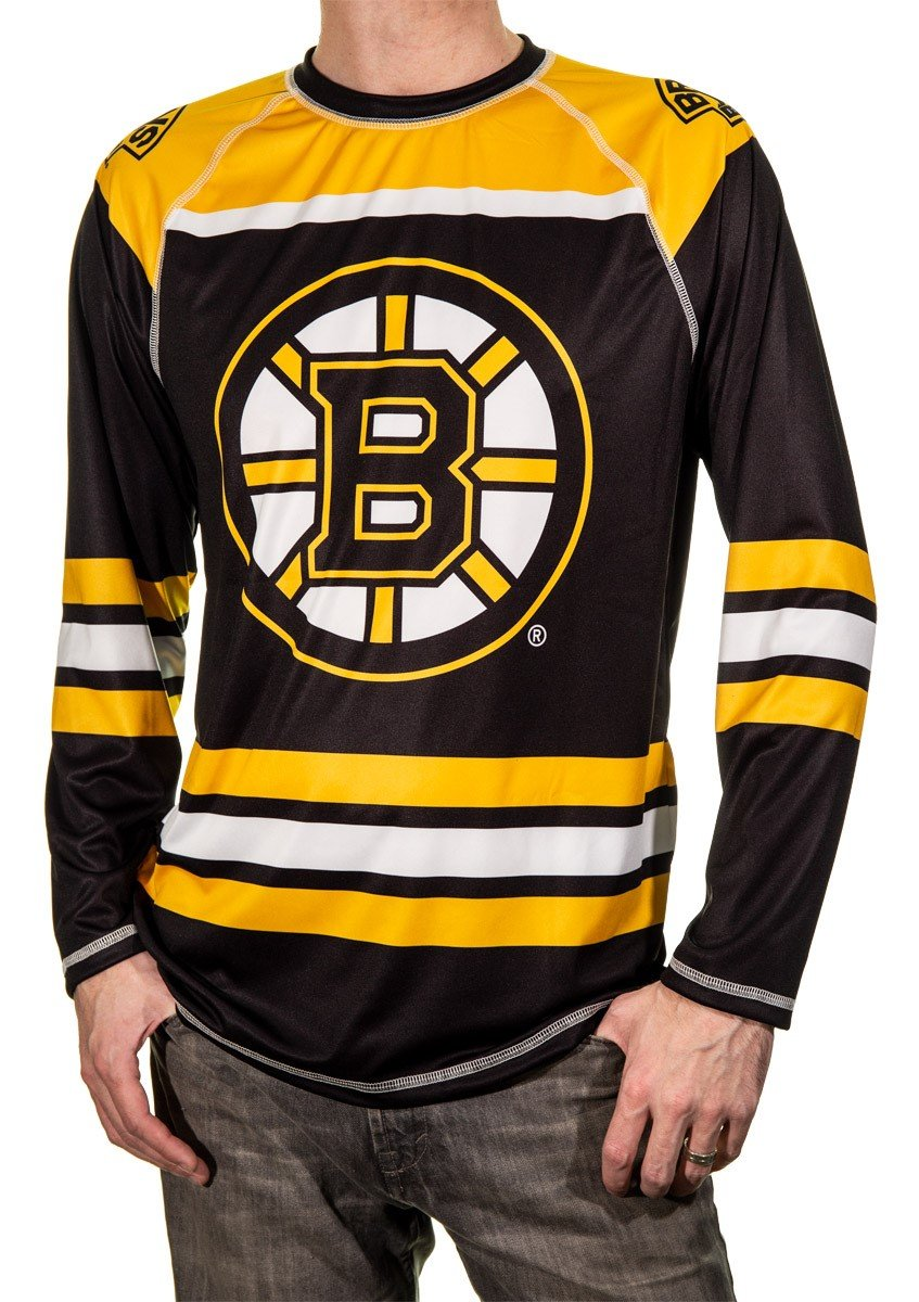 Boston Bruins Game Day Jersey Yellow and Black Front View.