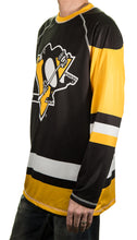 Load image into Gallery viewer, NHL Mens Long-Sleeve Performance Game Day Rash Guard- Pittsburgh Penguin Side