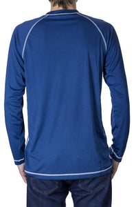 NHL Mens Long-Sleeve Rash Guard-Toronto Maple Leafs Back