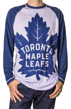 Load image into Gallery viewer, NHL Mens Long-Sleeve Rash Guard-Toronto Maple Leafs Front