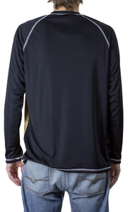 NHL Mens Long Sleeve Rashguard with Wicking Technology- Los Angeles Kings Back