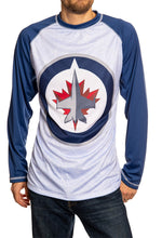 Load image into Gallery viewer, NHL Mens Long Sleeve Rashguard with Wicking Technology-  Winnipeg Jets