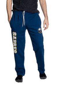 Buffalo Sabres Premium Fleece Sweatpants Front View.