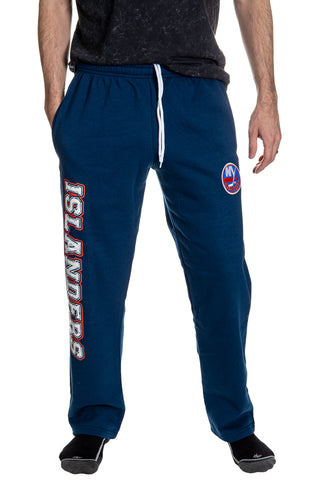 New York Islanders Premium Fleece Sweatpants Front View.