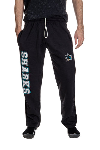 San Jose Sharks Premium Fleece Sweatpants Front View.