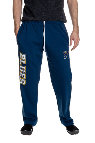 St Louis Blue Premium Fleece Sweatpants Front View.
