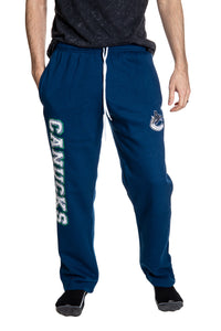 Vancouver Canucks Premium Fleece Sweatpants Front View.