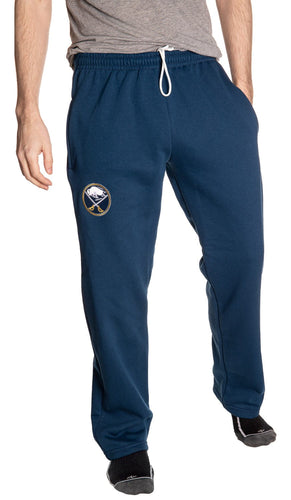 Buffalo Sabres Blue Sweatpants Front View