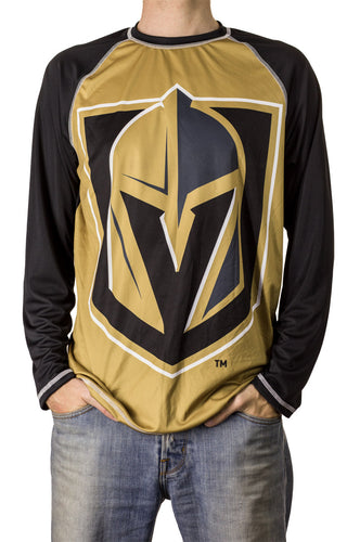 NHL Mens Performance Long-Sleeve Rash Guard-Vegas Golden Knights Front