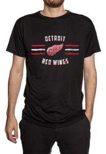 Detroit Red Wings Distressed Lines T-Shirt Front View.