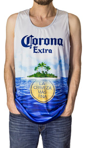 Mens Corona Summer Can Tank Top