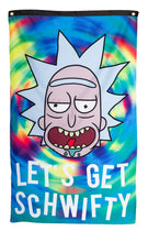 "Load image into Gallery viewer, Calhoun Rick and Morty Indoor Wall Banner - Get Schwifty  (30"" by 50"")"