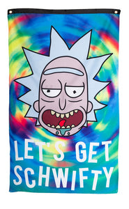 "Calhoun Rick and Morty Indoor Wall Banner - Get Schwifty  (30"" by 50"")"