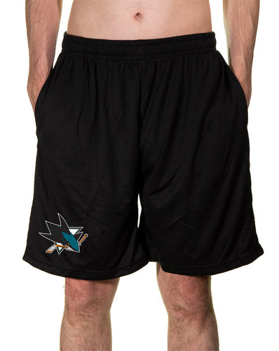 NHL Mens Air Mesh Shorts- San Jose Sharks