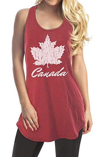 Ladies Canada Flag Tank Top