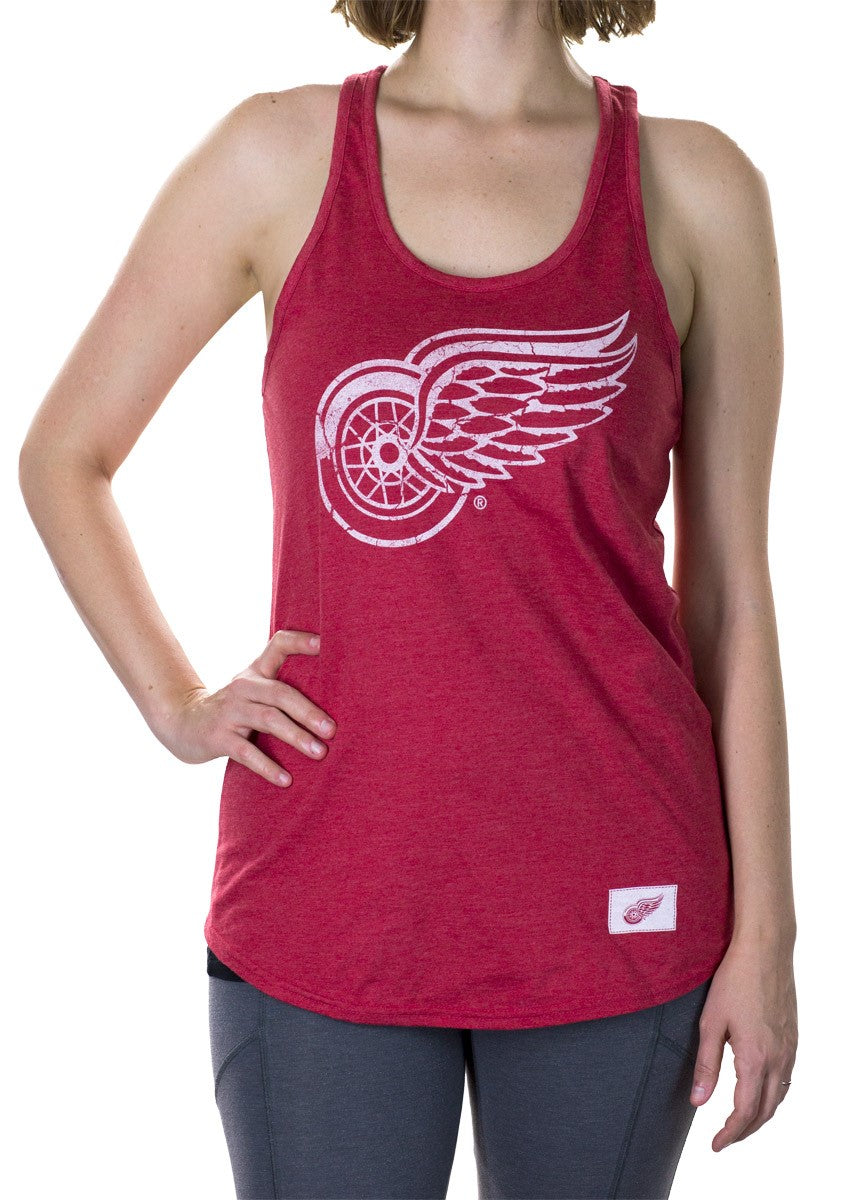 NHL Distressed Flowy Tank Top - Detroit Red Wings