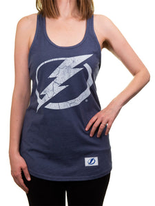 NHL Ladies Distressed Flowy Tank Top- Tampa Bay Lightning