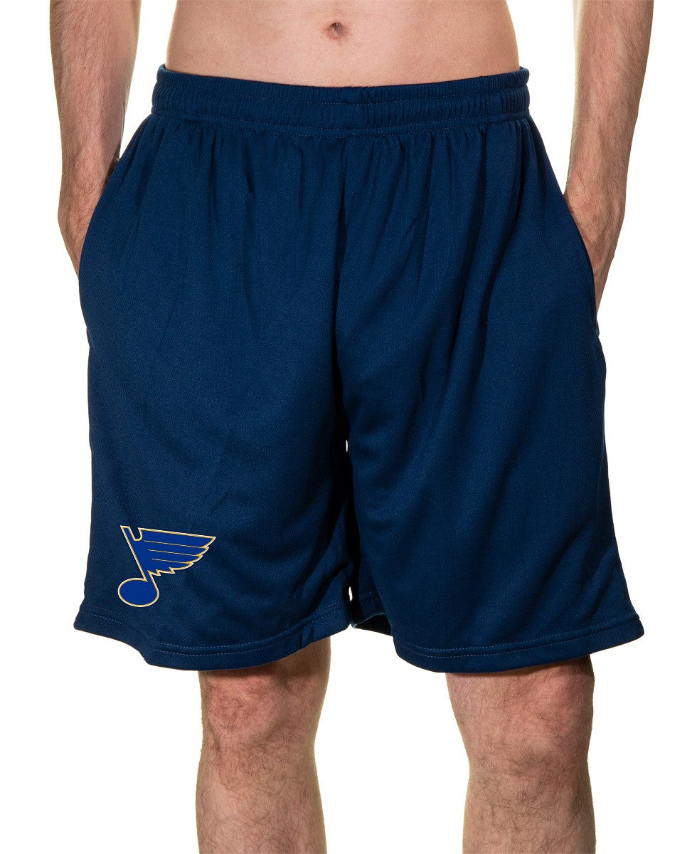 NHL Mens Air Mesh Shorts- St.Louis Blues