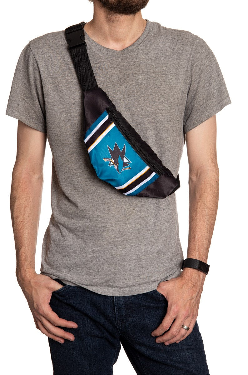 NHL Unisex Adjustable Fanny Pack- San Jose Sharks Crossbody