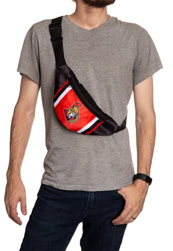 NHL Unisex Adjustable Fanny Pack- Ottawa Senators Crossbody