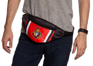 NHL Unisex Adjustable Fanny Pack- Ottawa Senators Waistbag