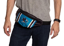 Load image into Gallery viewer, NHL Unisex Adjustable Fanny Pack- San Jose Sharks Waist Bag