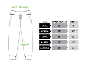 Winnipeg Jets French Terry Jogger Pants Size Guide.