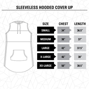Pittsburgh Penguins Sleeveless Hooded Cover-Up Size Guide.