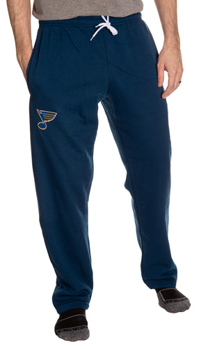 St. Louis Blues Embroidered Logo Sweatpants Front View