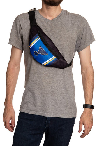 NHL Unisex Adjustable Fanny Pack- St.Louis Blues Crossbody