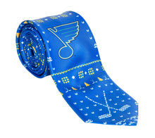 Load image into Gallery viewer, St. Louis Blue Ugly Christmas Tie.