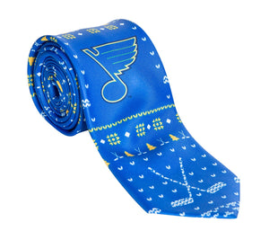 St. Louis Blue Ugly Christmas Tie.