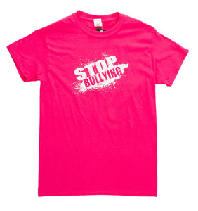"Unisex ""Stop Bullying"" T-Shirt Hot PInk"
