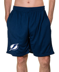 NHL Mens Air Mesh Shorts- Tampa Bay Lightning