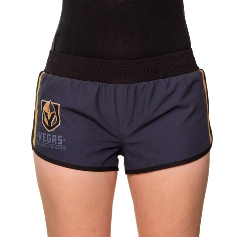 Ladies NHL Swim Board Short- Vegas Golden Knights Front View With Side Logo